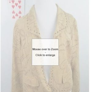 Chicos womens size 1 open jacket 100% polyester